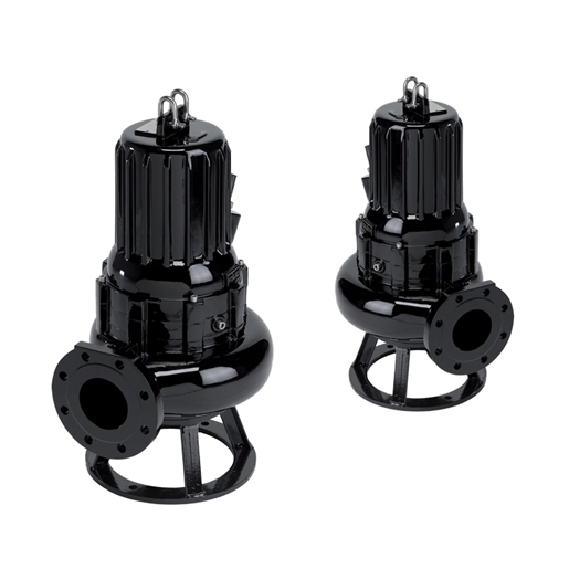 Waste water electric submersible pumps with double-channel impeller