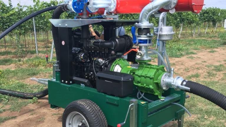 Pompes multicellulaires bridées SAE sur moteurs thermiques