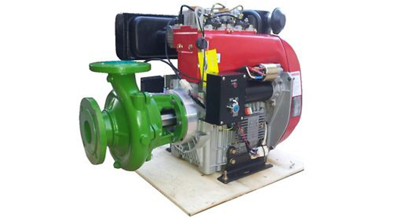 Flanged pumps for thermic engines