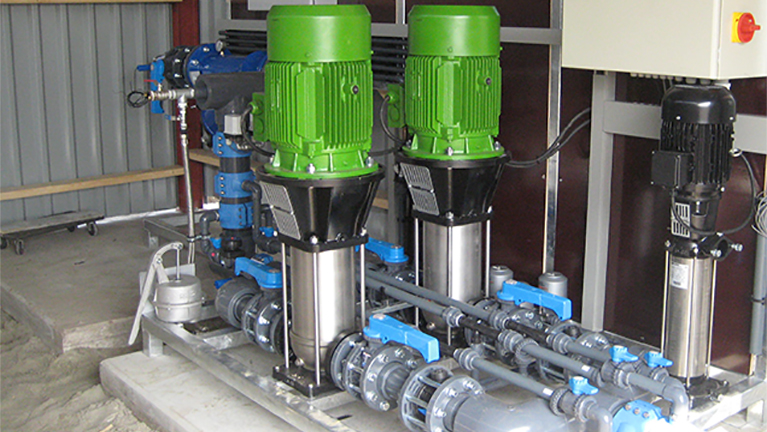 Vertical multistage electric pumps in AISI 316 stainless steel