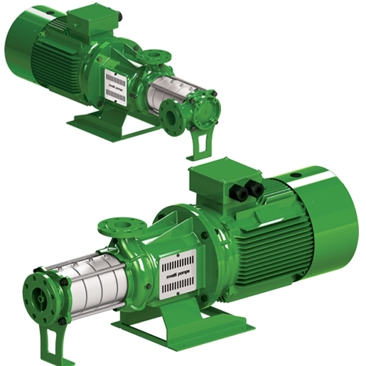Horizontal multistage electric pumps in AISI 304 stainless steel