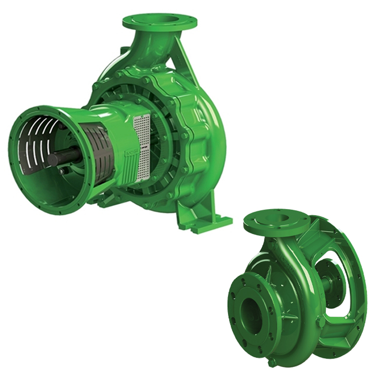 Single-stage SAE flanged pumps for thermic engines