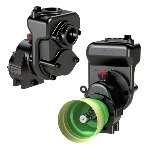 Compact self-priming pumps with overgear