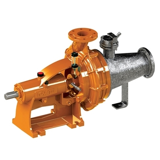 Horizontal bareshaft single-stage centrifugal pumps with galvanized chopper cone