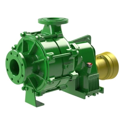 Multistage pumps with overgear